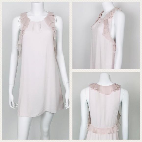 Free People Dresses & Skirts - Free People Pink Ruffle Trim Tunic Dress